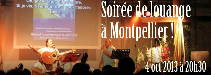 Soirée de louange à Montpellier !
