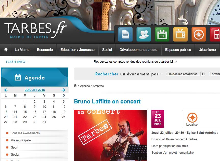 Concert à Tarbes