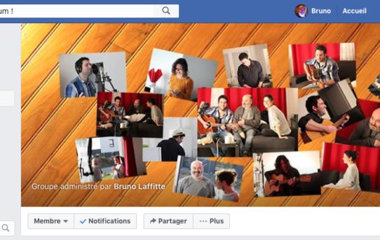 Un groupe Facebook pour mon nouveau projet d'album !